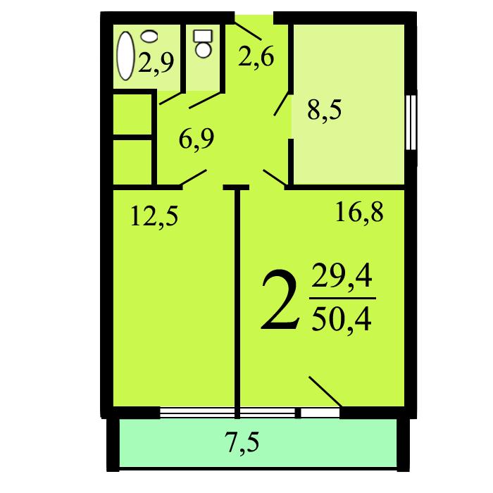 Дома серии и-700а - планировка квартир.