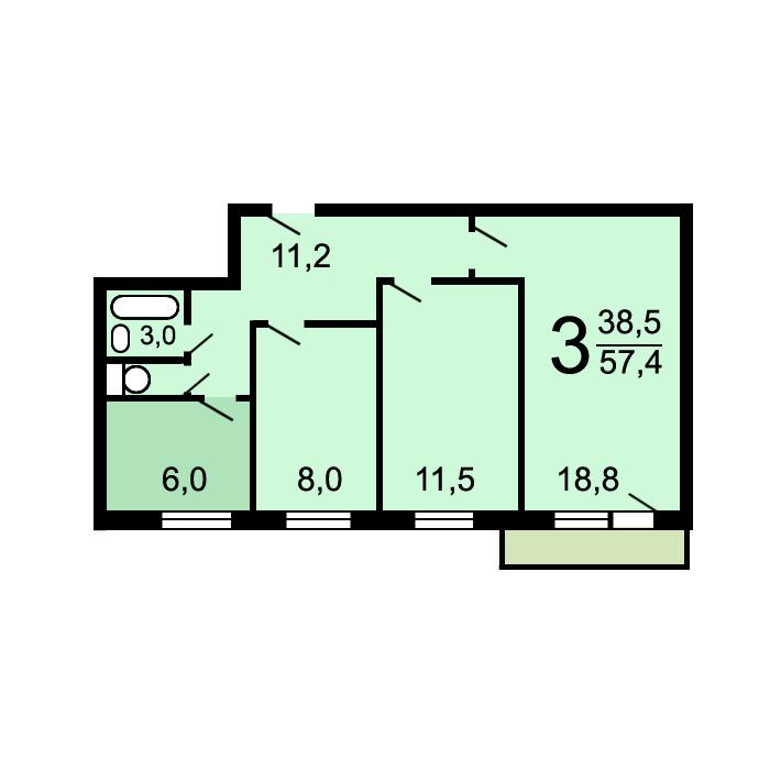 Дома серии 1-515/9м (i-515/9м) - планировка квартир.