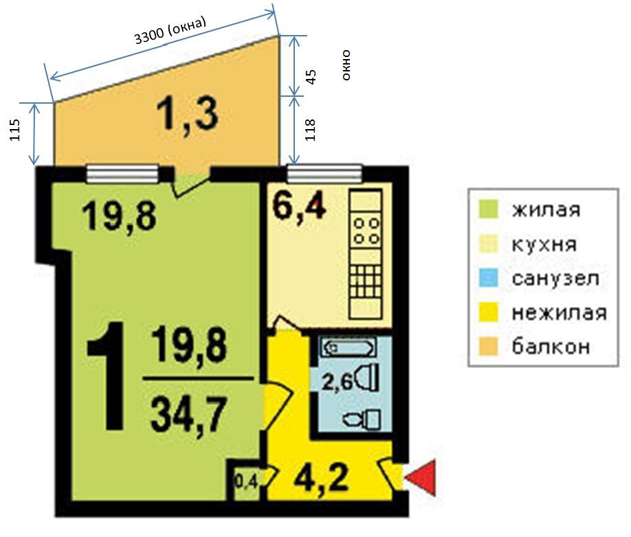 Дома серии 1-515/9ш (i-515/9ш) - планировка квартир.