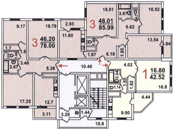 Планировка квартир гмс