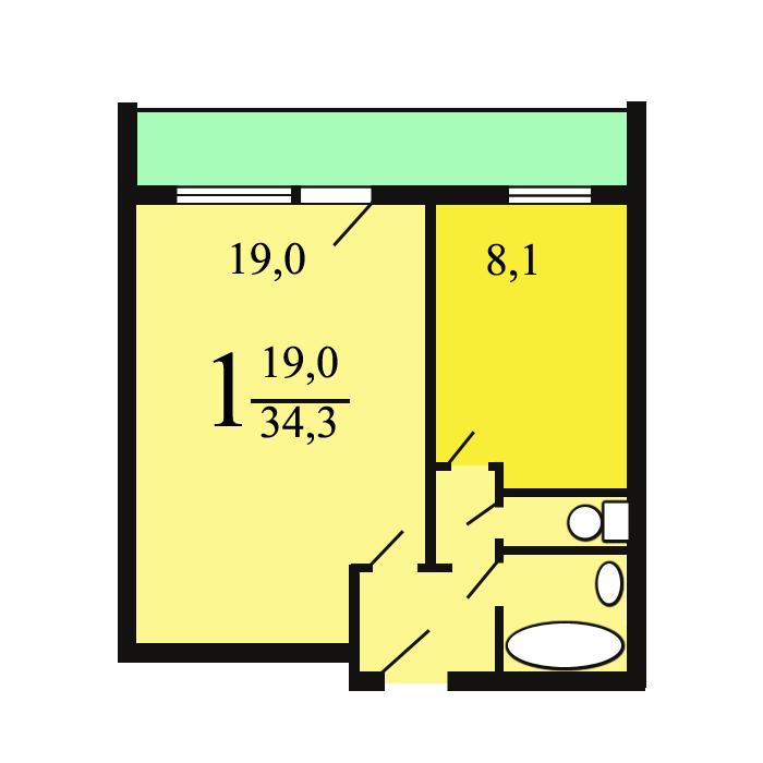 "Дома серии ""башня вулыха"" - планировка квартир."